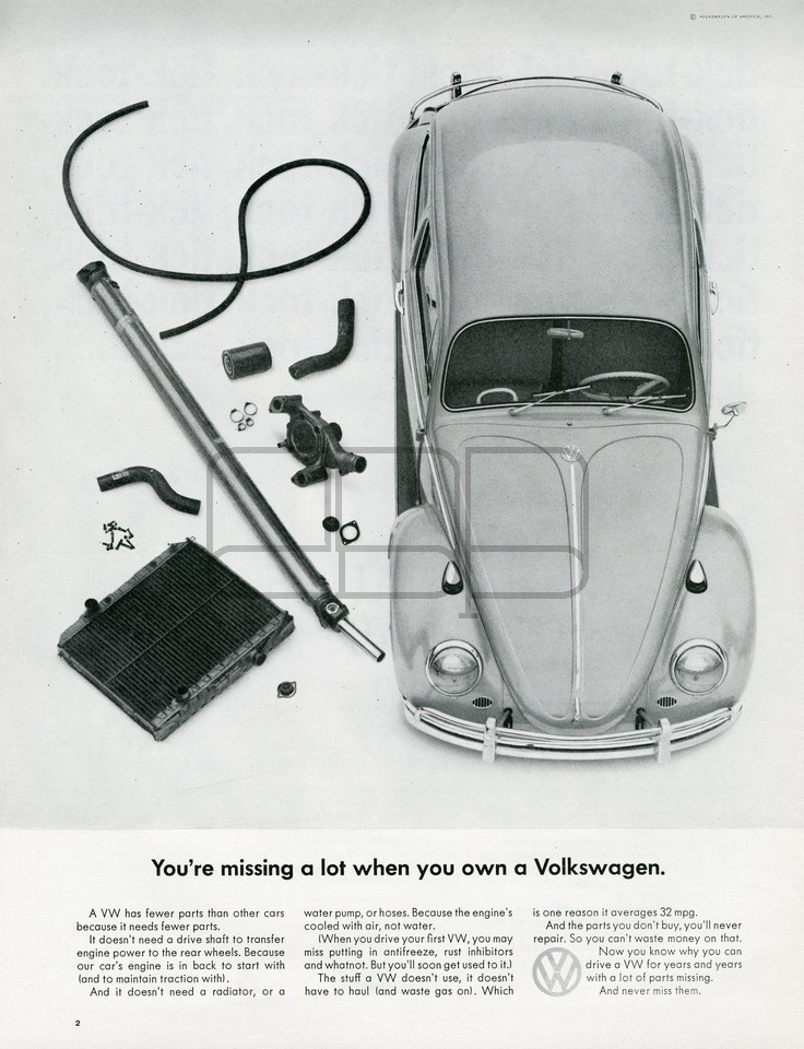 LÁMINA VOLKSWAGEN MISSING 1965