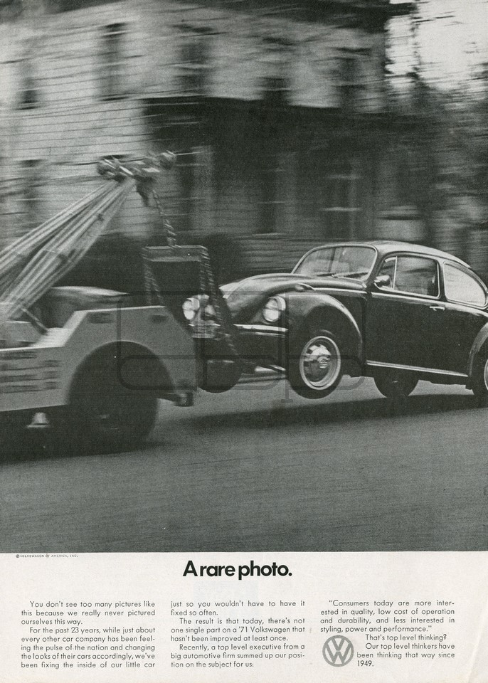 LÁMINA VOLKSWAGEN A RARE PHOTO 1971