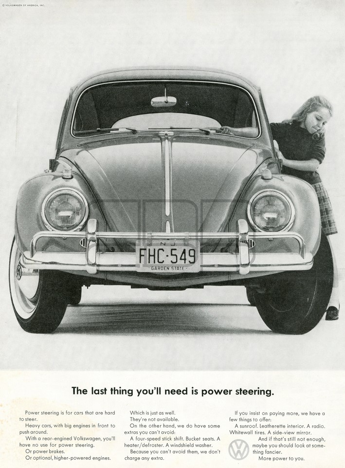 LÁMINA VOLKSWAGEN THE LAST THING 1963