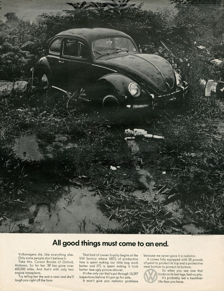 LÁMINA VOLKSWAGEN ALL GOOD THINGS 1968