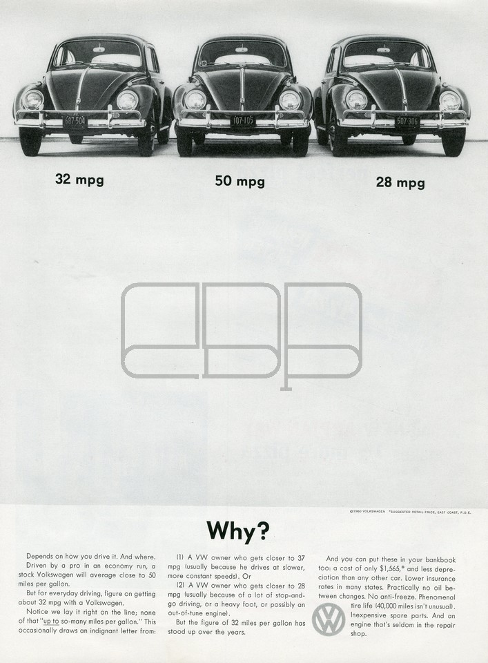 VOLKSWAGEN WHY 1960