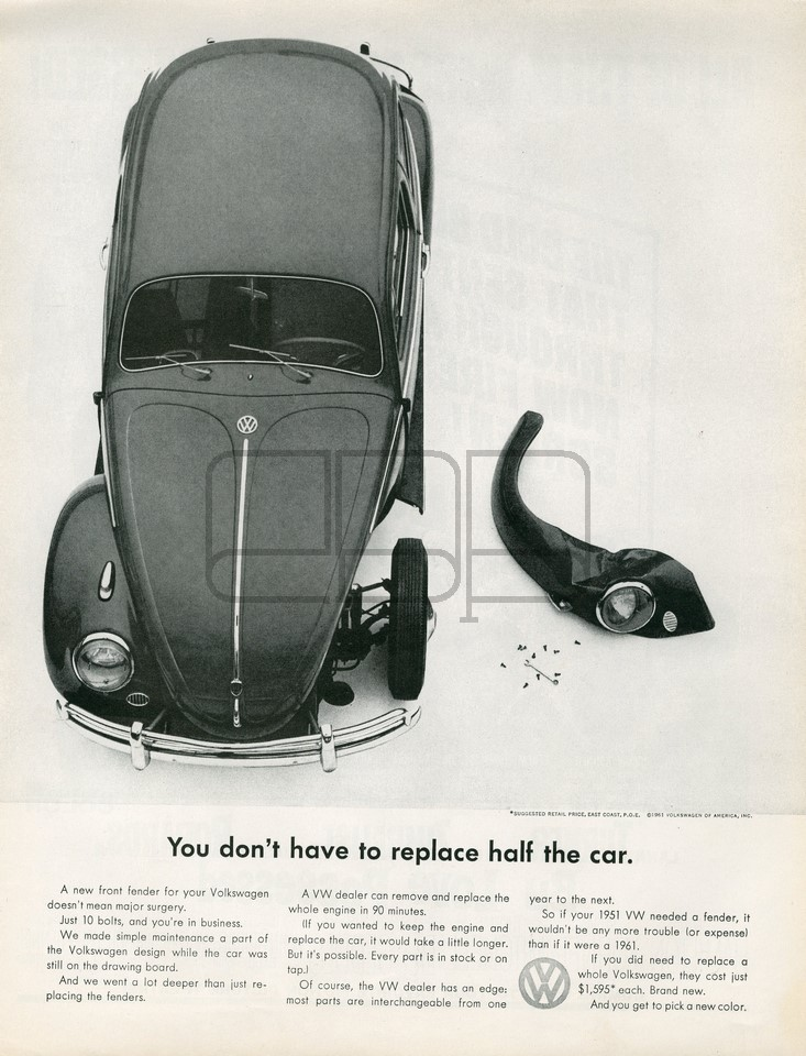 VOLKSWAGEN REPLACE 1961